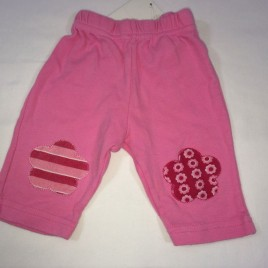 Pink 0-3 leggings with knee patches