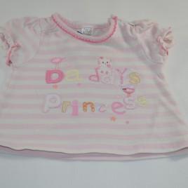 Daddy's princess pink t-shirt 0-3 months