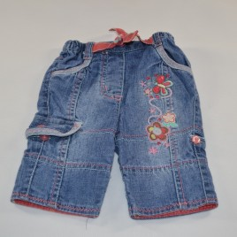 Newborn flowered jeans