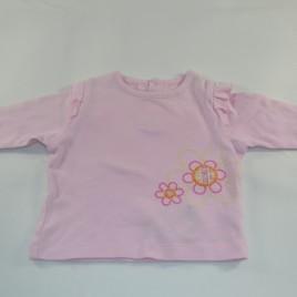 Pink flowered 0-3 months top