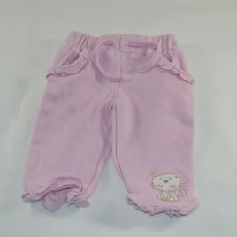 Pink cat newborn trousers