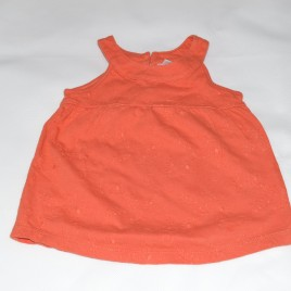 Next orange vest top 3-6 months