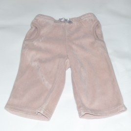 Dusky pink 3-6 months velour feel trousers