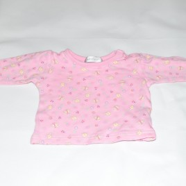 0-3 months pink butterfly, ladybirds & bees top