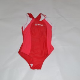 Red & white swimming costume 4-5 years