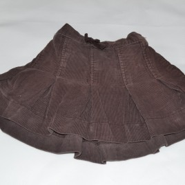 Brown cord skirt 12-18 months