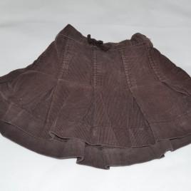 Brown cord skirt 12-18 months