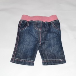 Newborn jeans with pink waist band