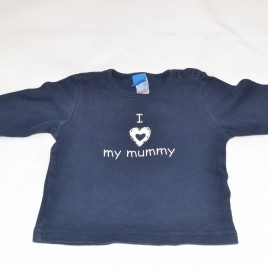 'I love my Mummy' navy top 6-9 months