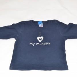 'I love my Mummy' navy top 6-9 months