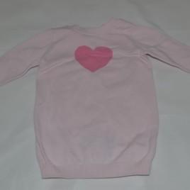 Pink heart Next 6-9 months knitted dress