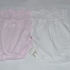 New x2 pretty Mothercare newborn bodysuits