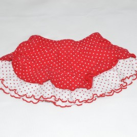 Red & white spotty skirt 3-6 months