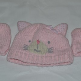 Next 3-6 months cat hat & gloves