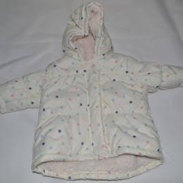 Next 3-6 months cream spotty coat