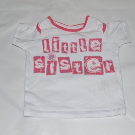 M&S 'little sister' t- shirt 3-6 months