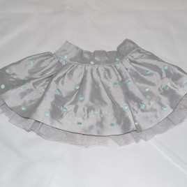 Silver spotty skirt up to 1 month