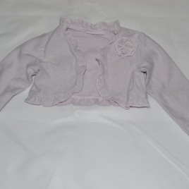 Sparkly silver/pink shrug 6-9 months