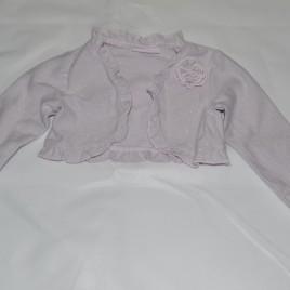 Sparkly silver/pink shrug 6-9 months
