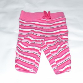 Newborn pink stripy leggings
