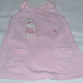 Pink Millie pinafore 3-6 months