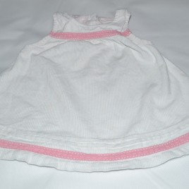 Mothercare 0-3 months white & pink pinafore