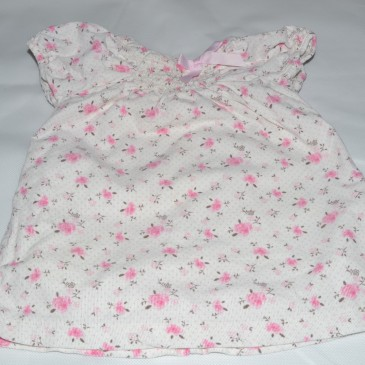 3-6 months cream with pink flowers cord dress