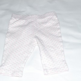 Newborn white & pink spotty leggings