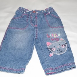 'Little Kitty' jeans 0-3 months