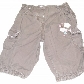 3-6 months brown trousers with flowers