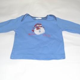 Snowman Christmas top 3-6 months