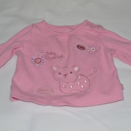 0-3 months 'baby cheetah' pink top