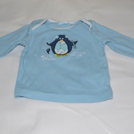 Christmas penguin top 3-6 months