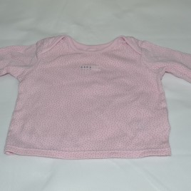 M&S pink spotty top 0-3 months