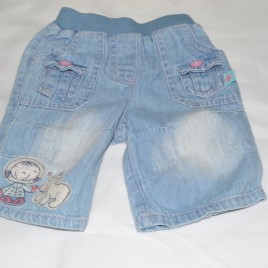 Newborn jeans with Eskimo picture