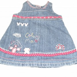 Next 0-3 months denim pinafore