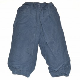 Navy trousers with tie waist 9-12 months
