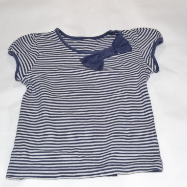 Navy & white striped top 2-3 years