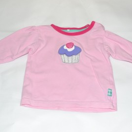 'Name it' pink cupcake top 2-4 months