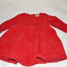Next red cord dress 3-6 months