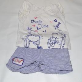 M&S Charlie & Lola t-shirt & shorts 12-18 months