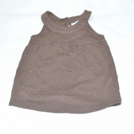 Next brown vest top 3-6 months