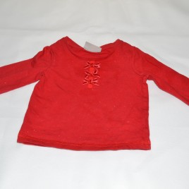 Next red sparkly top 3-6 months