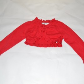 M&S Autograph red cropped cardigan 12-18 months
