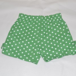 Mothercare green & white spot shorts 3-6 months