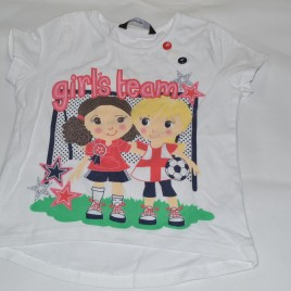 'Girls team' football t-shirt 12-18 months