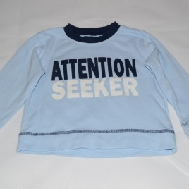 'Attention Seeker' Blue Top 9-12 months