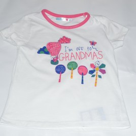 'I'm off to grandmas' t-shirt 4-5 years