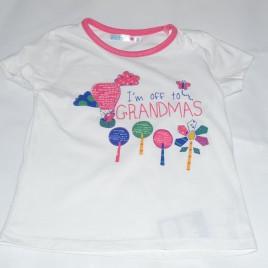 'I'm off to grandmas' t-shirt 4-5 years