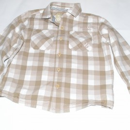 Next brown & white checked shirt 4-5 years